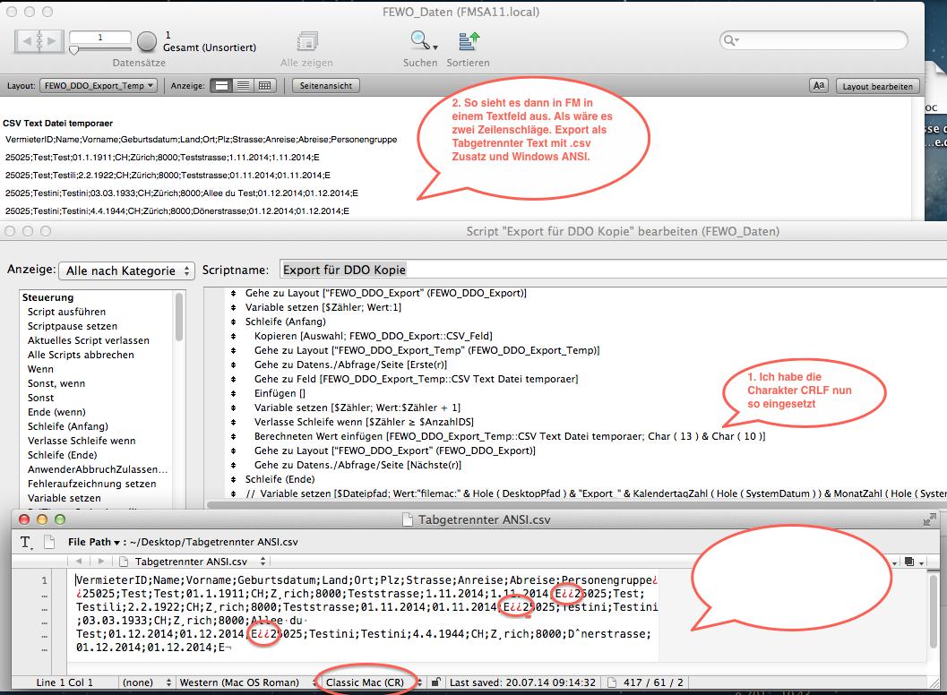 FileMaker Forum-Beitrag : Export Problem :: FileMaker Magazin