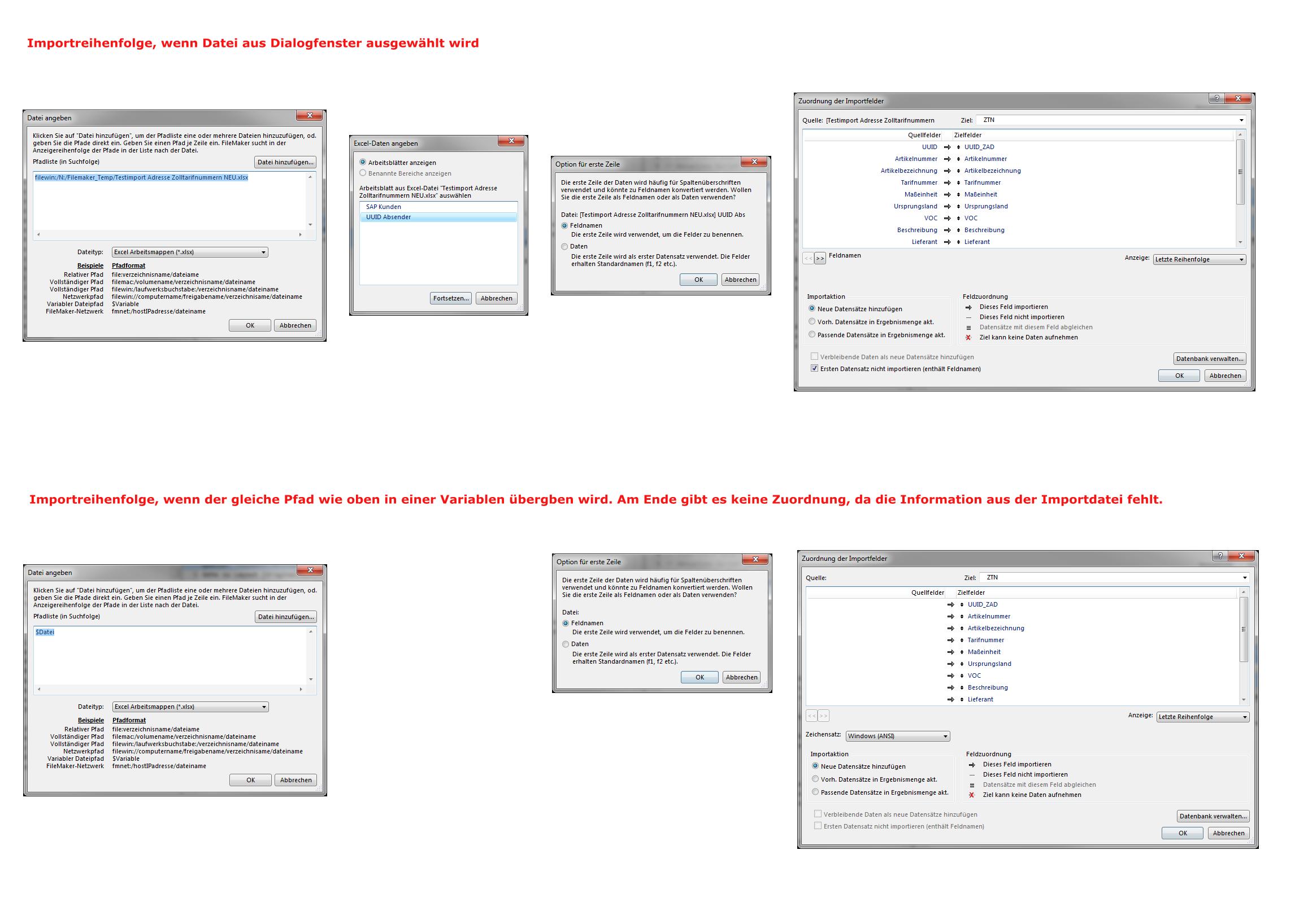 FileMaker Forum-Beitrag : Script für Datensätze importieren ...