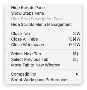 FileMaker Forum-Beitrag : Script Workspace mit CMD/Shift/W schließen