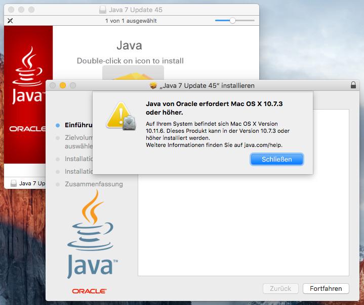 FileMaker Forum-Beitrag : FMS 12 und Mac OSX 10 11 6 - Java Konsole